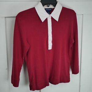 Ann Taylor Red Long Sleeve